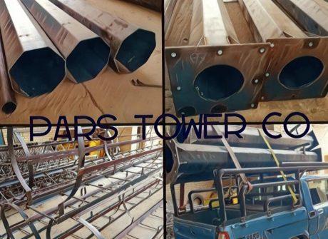 ساخت ۶ اصله دکل منوپل فلنچی بهمراه نردبان محافظ