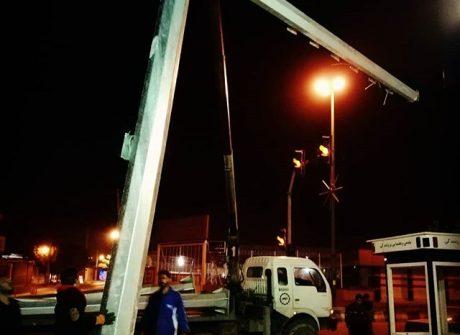 ساخت دکل های دوربین نظارت شهری شهرستان برازجان