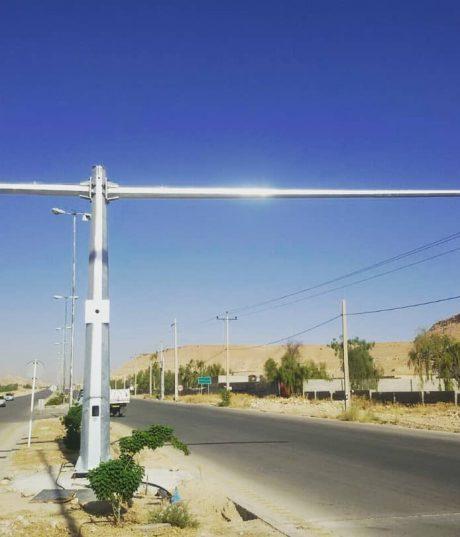 ساخت و نصب پایه دوربین کنترل سرعت دوطرفه