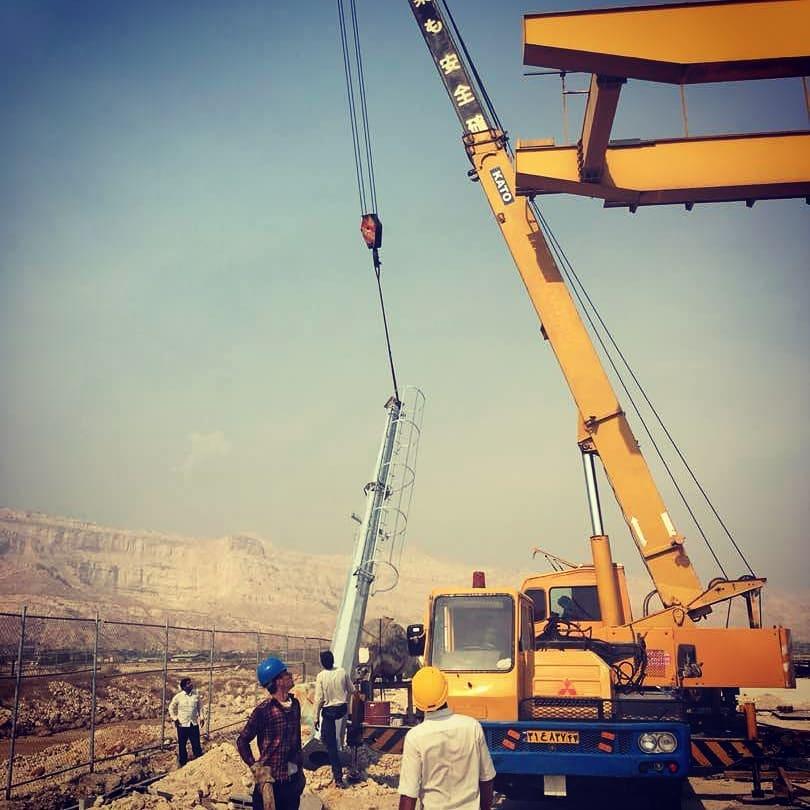 پروژه ساخت و نصب دکل های نظارتی پتروشیمی خلیج فارس