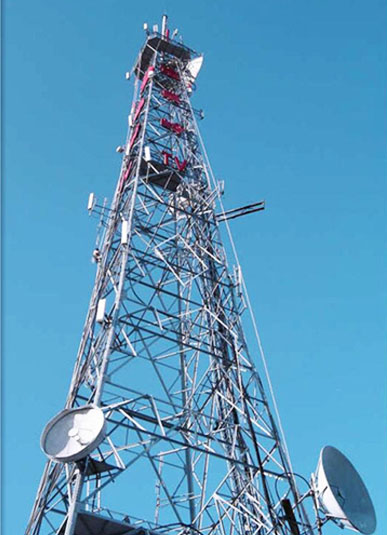Four Legged Angular Telecommunication Tower