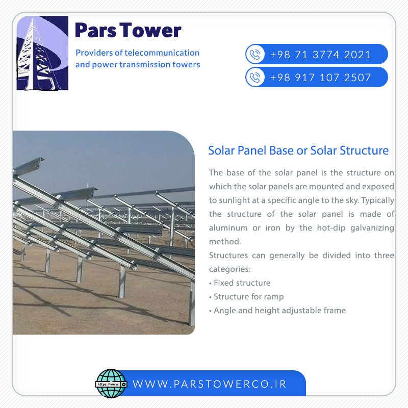 Solar Panel Base or Solar Structure
