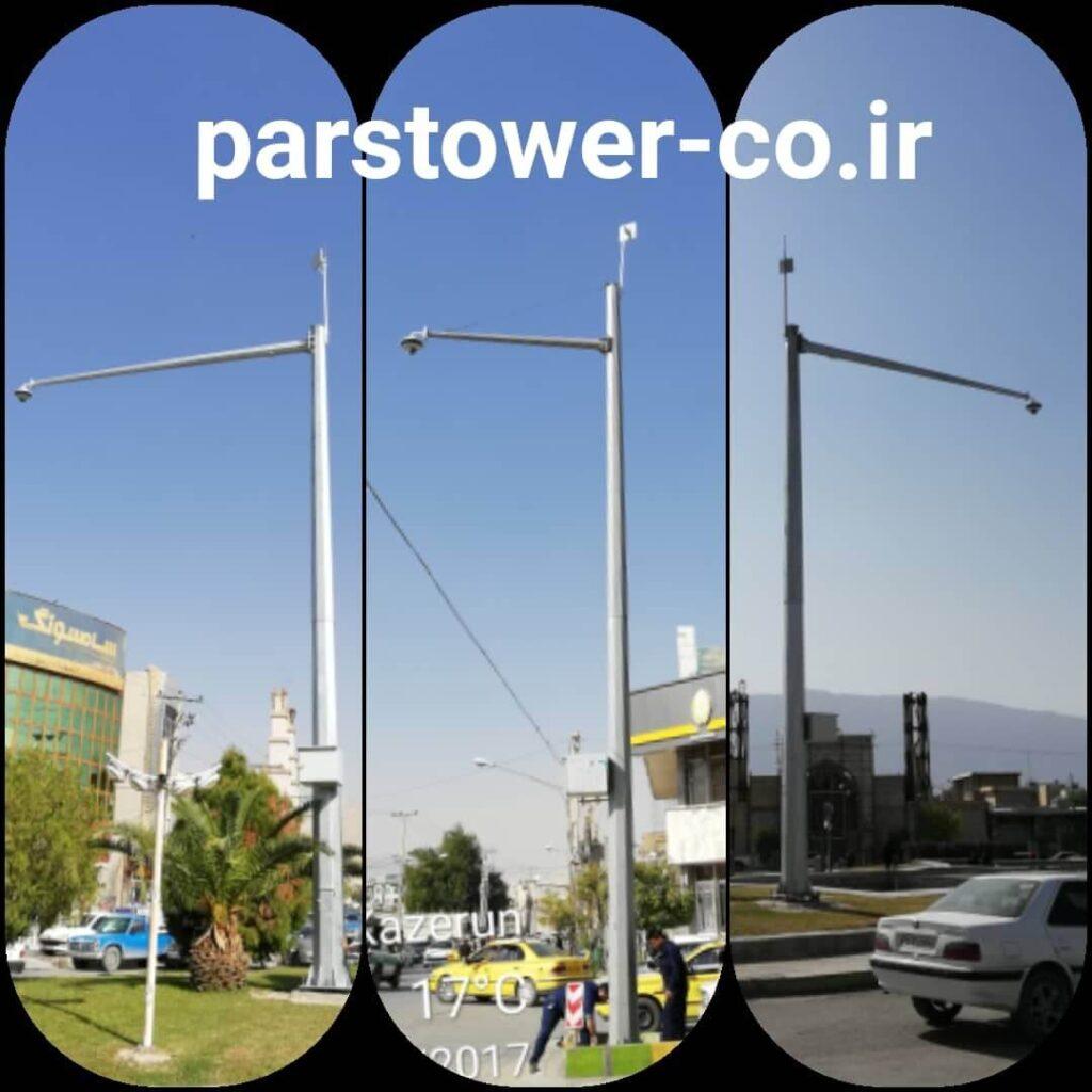 دکل های دوربین نظارتی شهری استان فارس